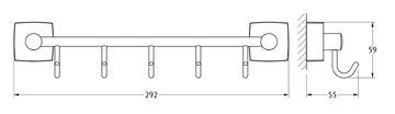 Держатель с пятью крючками, 30см хром FBS ESP 026