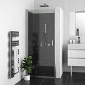 Душевая дверь Roth Lega Lift LZCO1+LZ, 80см, прозрачное стекло, хром 227-8000000-00-02/229-1940025-00