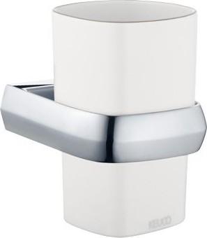 Стакан белый фарфоровый с хромированным держателем Keuco EDITION PALAIS 40050013000