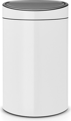 Ведро для мусора 40л, белый Brabantia Touch Bin 114984