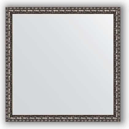 Зеркало 60x60см в багетной раме чернёное серебро Evoform BY 0773