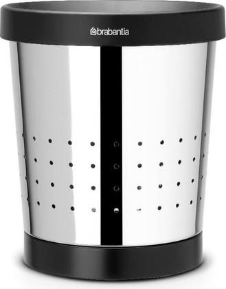 Корзина для бумаг Brabantia, 5л, перфорированная, полированная сталь 364280