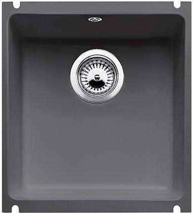 Кухонная мойка без крыла, с клапаном-автоматом, керамика, базальт Blanco Subline 375-U PuraPlus 516974