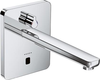 Смеситель для умывальника электронный с рычагом регулировки температуры и без встраиваемого механизма, хром Kludi ZENTA 3840005