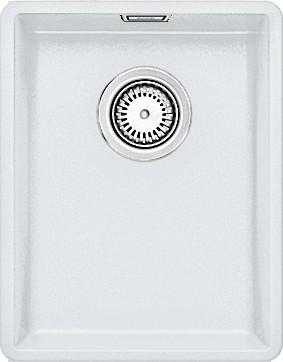 Кухонная мойка без крыла, с клапаном-автоматом, гранит, белый Blanco SUBLINE 320-F 519793