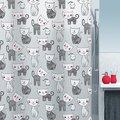 Шторка для ванны 180x200см чёрно-белая Spirella MIZZY 1015237
