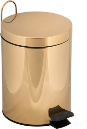 Ведро для мусора с педалью 5 литров, золото TW Harmony TWCV010-5oro