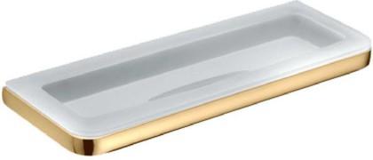 Мыльница большая настенная стеклянная в металлическом корпусе, золото Colombo LULU B6203.gold