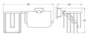 Держатель для освежителя и туалетной бумаги с крышкой FBS ESP 054