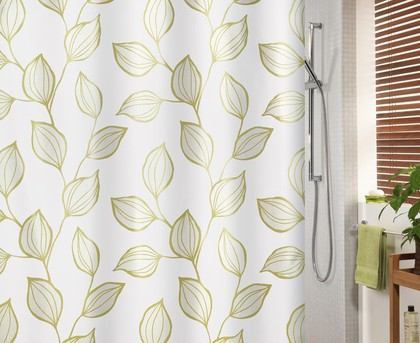 Штора для ванны 180x200см текстильная золотистая Spirella FOGLIA 1017184