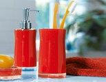 Ёмкость для жидкого мыла с дозатором пены красная Spirella Sydney Acrylic 1011340