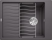 Кухонная мойка Blanco Elon 45S, клапан-автомат, тёмная скала 524815