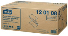 Листовые бумажные полотенца для рук сложения ZZ Tork Singlefold 120108