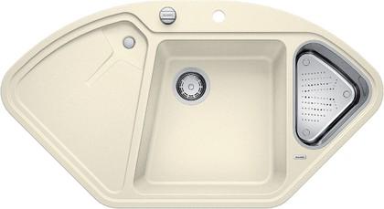 Кухонная мойка крыло слева, с клапаном-автоматом, гранит, жасмин Blanco Delta-F 521265