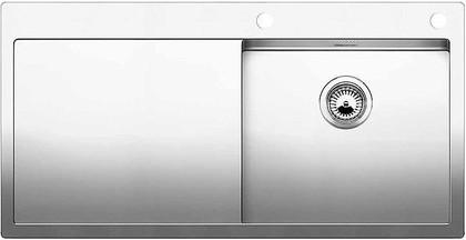 Кухонная мойка чаша справа, крыло слева, с клапаном-автоматом, нержавеющая сталь зеркальной полировки Blanco Claron 5 S-IF/А 513999