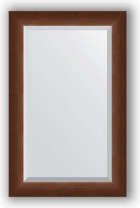 Зеркало 52x82см с фацетом 25мм в багетной раме орех Evoform BY 1137