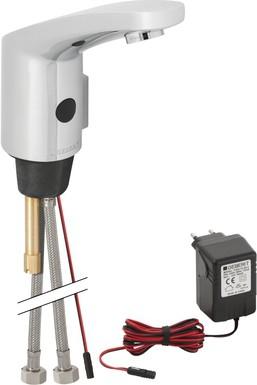 Антивандальный бесконтактный смеситель тип 185 для умывальника с наружной регулировкой температуры, 230В Geberit 116.155.21.1