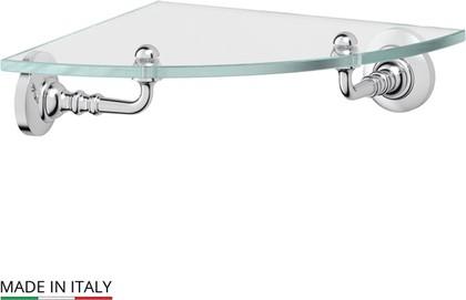 Полка для ванной стеклянная угловая, хром 3SC STI 018