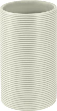 Стакан керамика, серый Spirella Tube Ribbed 1018513
