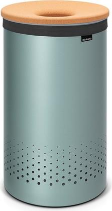 Бак для белья 60л мятный металлик с пробковой крышкой Brabantia 104442