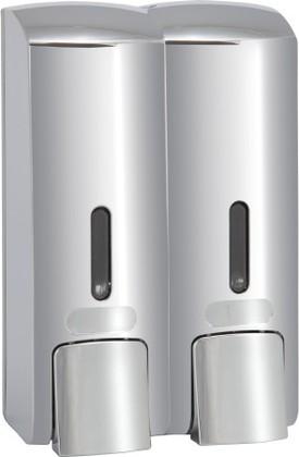 Дозатор для жидкого мыла Bemeta Hotel двойной 300мл, хром 121209132