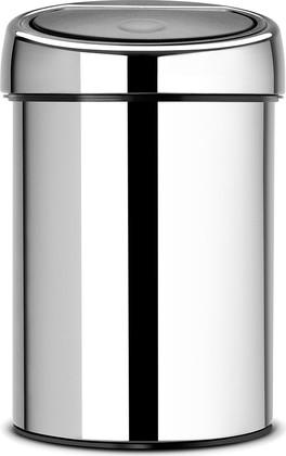 Ведро для мусора Brabantia Touch Bin, 3л, настенное, полированная сталь 363962