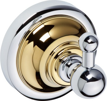 Крючок для ванной Bemeta Retro, золото-хром 144206018