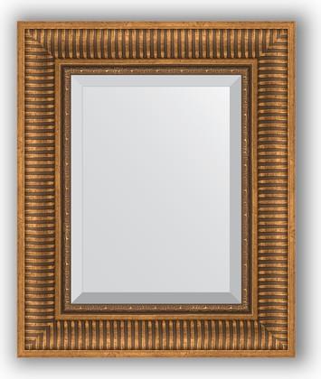 Зеркало с фацетом в багетной раме 47x57см бронзовый акведук 93мм Evoform BY 3362
