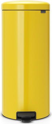 Мусорный бак с педалью 30л, желтая маргаритка Brabantia Newicon 114342