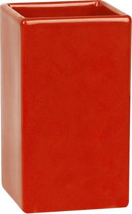 Стакан для ванной керамический красный Spirella Quadro 1013645