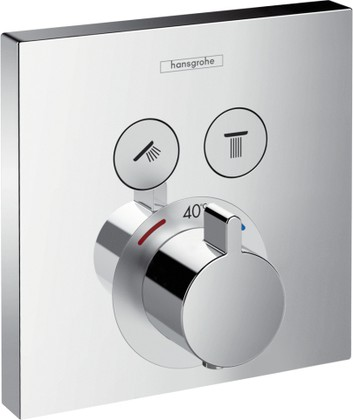 Наружная часть термостата на 2 потребителя, хром Hansgrohe ShowerSelect 15763000