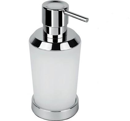 Дозатор жидкого мыла Colombo Road настольный, 250мл, хром, стекло B9339