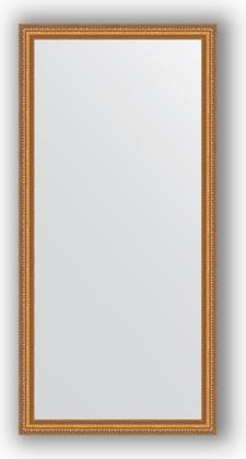 Зеркало в багетной раме 75x155см золотые бусы на бронзе 60мм Evoform BY 3330