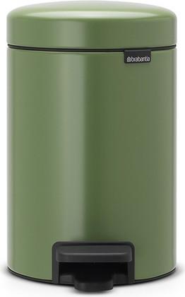 Мусорный бак с педалью 3л, зеленый мох Brabantia Newicon 113024