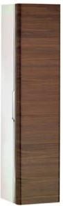 Высокий шкаф-пенал, петли справа, белый глянцевый / грецкий орех Keuco EDITION 300 30311386802