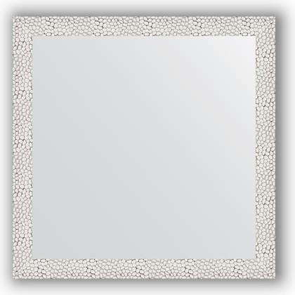 Зеркало в багетной раме 61x61см чеканка белая 46мм Evoform BY 3130