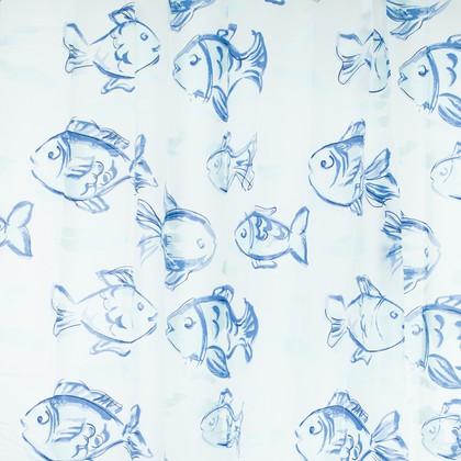 Штора для ванной комнаты 180x200см синяя Spirella FIDJI 1036984