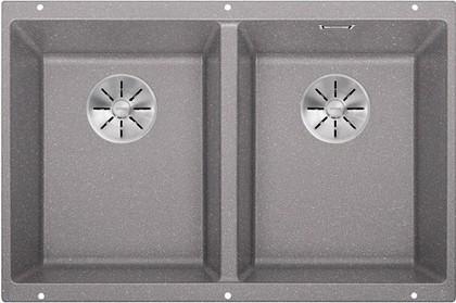Кухонная мойка Blanco Subline 350/350-U, отводная арматура, алюметаллик 523576