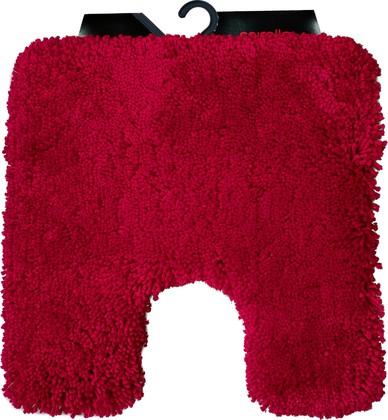 Коврик для туалета Spirella Highland, 55x55см, полиэстер/микрофибра, красный 1013071