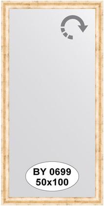 Зеркало 50x100см в багетной раме красная бронза Evoform BY 0699