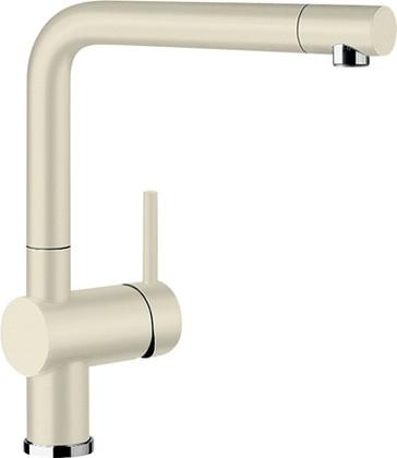 Смеситель кухонный однорычажный с высоким выдвижным изливом, SILGRANIT жасмин Blanco LINUS-S 516693