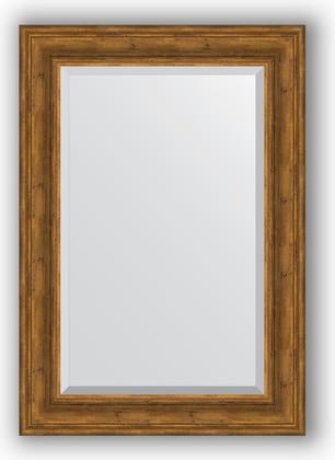 Зеркало с фацетом в багетной раме 69x99см травленая бронза 99мм Evoform BY 3446