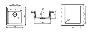 Кухонная мойка Florentina Липси, 460x510мм, бежевый 20.280.B0460.104