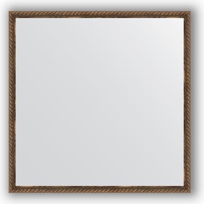 Зеркало 68x68см в багетной раме витая бронза Evoform BY 1017