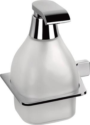 Подвесная стеклянная ёмкость для жидкого мыла с вставками хром Colombo Alize B9330.SX