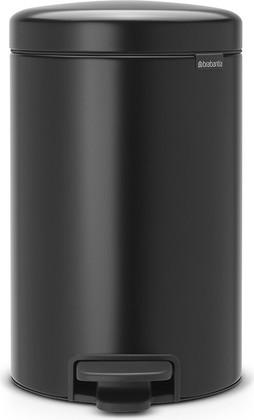 Мусорный бак с педалью 12л, чёрный матовый Brabantia Newicon 113741