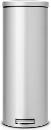 Мусорный бак 20л высокий с педалью, MotionControl, серый металлик Brabantia Slim 478529