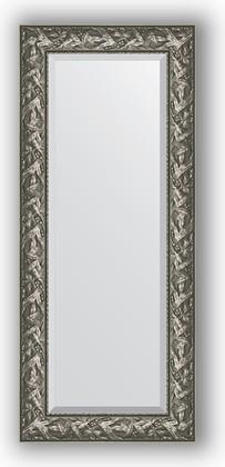 Зеркало с фацетом в багетной раме 59x139см византия серебро 99мм Evoform BY 3520