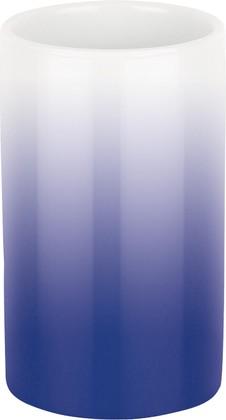 Стакан фарфоровый синий Spirella Tube Gradient 1017964