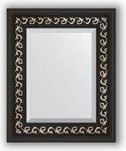 Зеркало Evoform Exclusive 450x550 с фацетом, в багетной раме 81мм, чёрный ардеко BY 1357